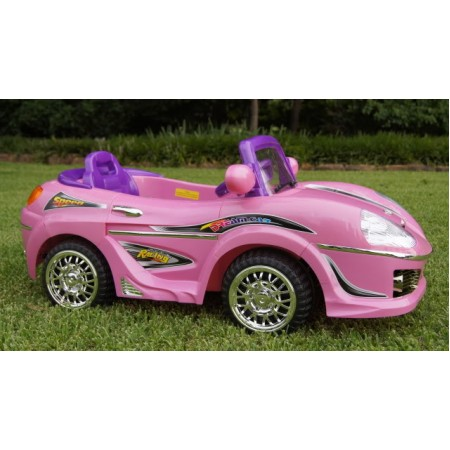 kids ride on electric battery powered sports car red blue black silver and pink